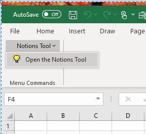 Notion tool Manu Add-Ins